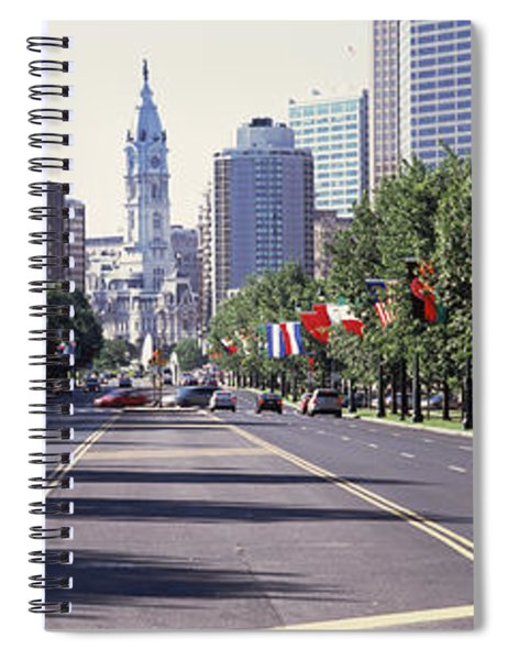 Country Flags On Trees Along Martin Spiral Notebook
