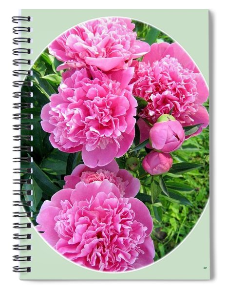 Country Peonies Spiral Notebook