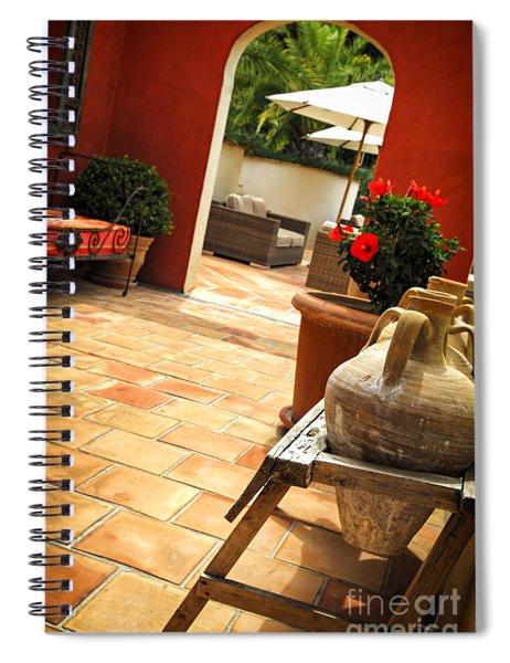 Courtyard Of A Villa Spiral Notebook