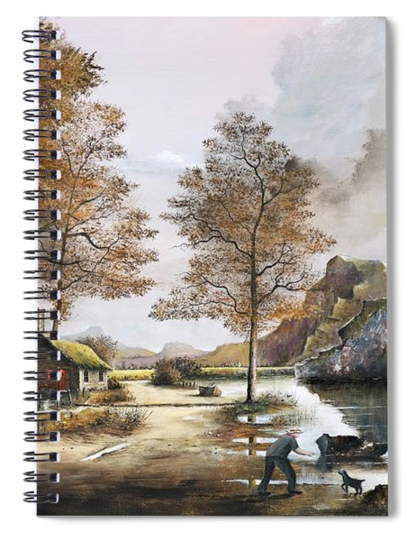 Crofters Cottages Spiral Notebook