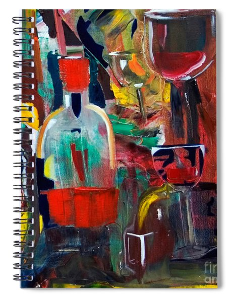 Cut IIi Wine Woman And Music Spiral Notebook