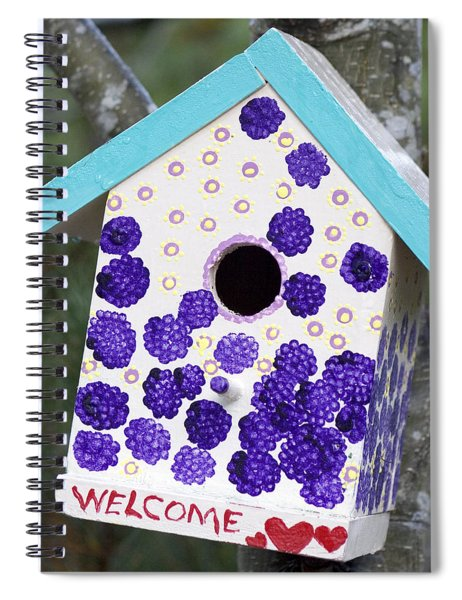 Cute Little Birdhouse Spiral Notebook