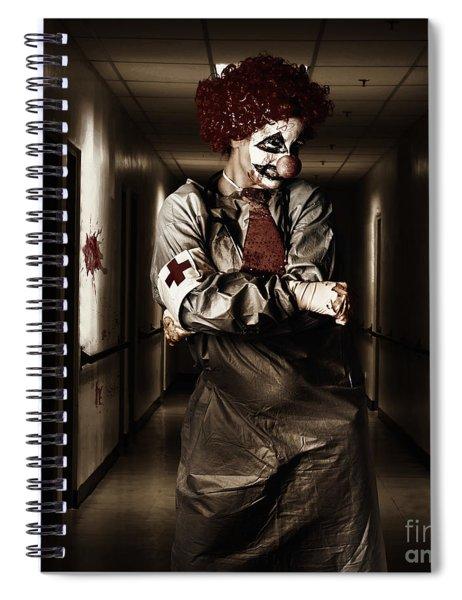 Dark Hospital Clown In Spooky Theatre Nightmare Spiral Notebook