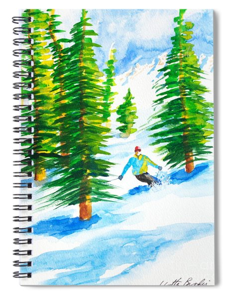 David Skiing The Trees  Spiral Notebook