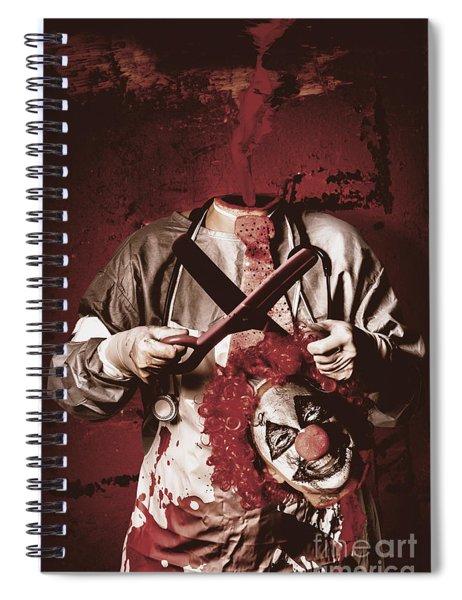 Disturbed Evil Boogieman Without Head Spiral Notebook
