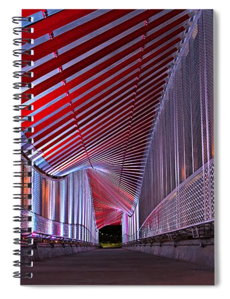 Double Helix Footbridge Spiral Notebook