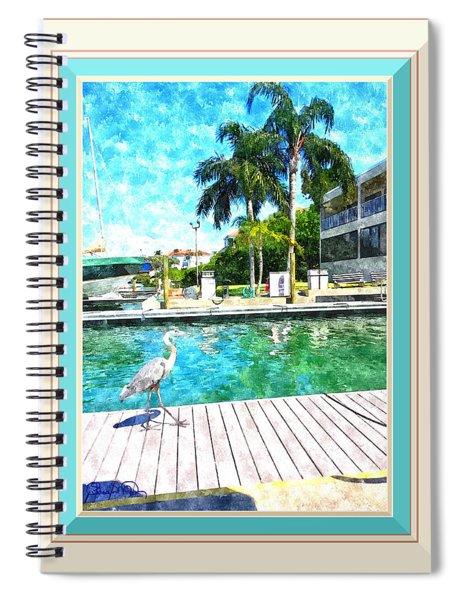 Dry Dock Bird Walk - Digitally Framed Spiral Notebook