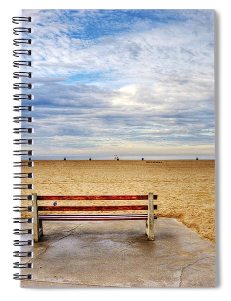 Early Morning At The Beach Spiral Notebook