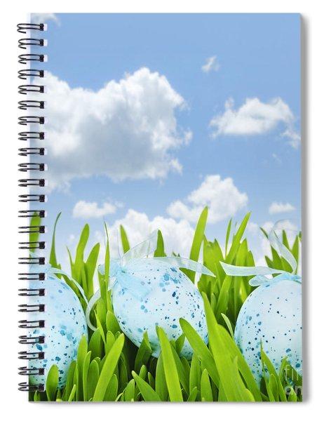 Easter Eggs In Green Grass Spiral Notebook