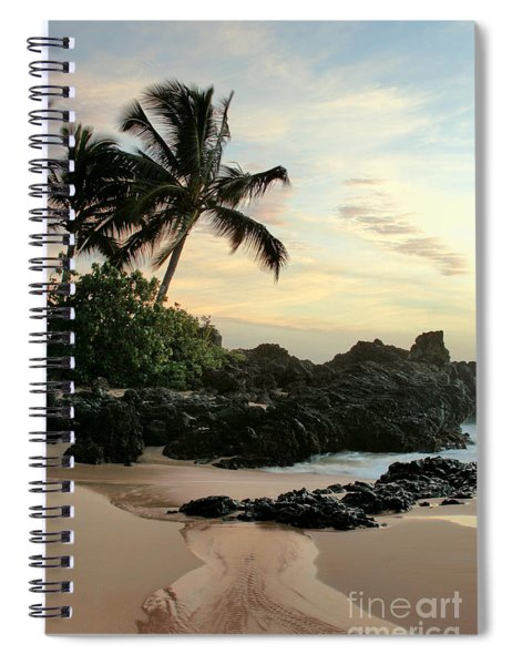 Edge Of The Sea Spiral Notebook