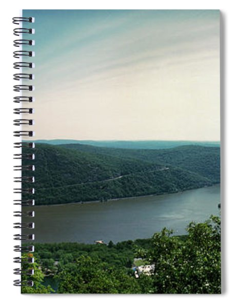 Elevated View Of The Hudson River Spiral Notebook