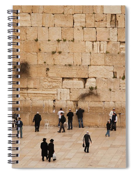 Elevated View Of The Western Wall Plaza Spiral Notebook