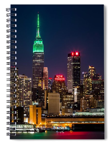 Empire State Building On Saint Patrick's Day Spiral Notebook