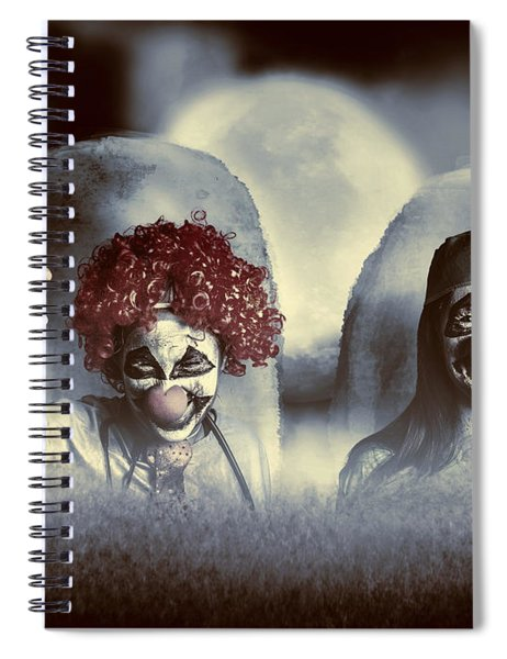 Evil Zombie Clown Doctors Rising From The Dead Spiral Notebook
