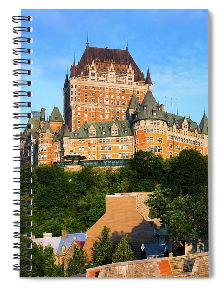 Facade Of Chateau Frontenac In Lower Spiral Notebook