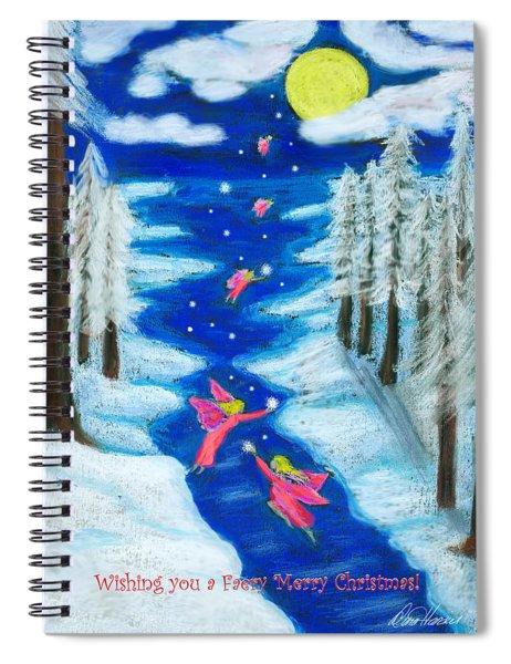 Faery Merry Christmas Spiral Notebook