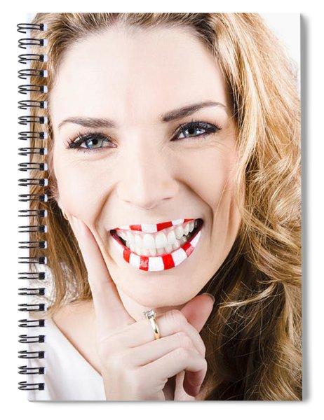 Female Cosmetics Model Wearing Creative Make Up Spiral Notebook