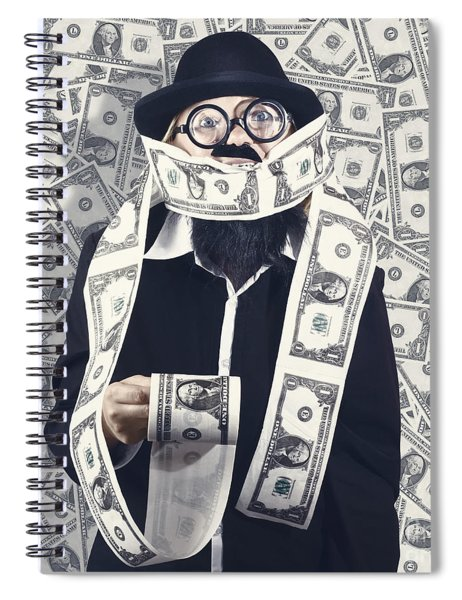Filthy Rich Male Business Person. Finance Success Spiral Notebook