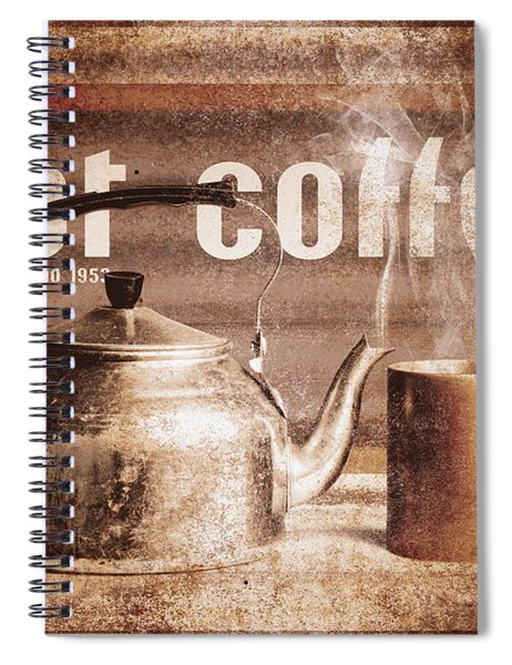 Fine Art Coffee Shop Tin Sign Insignia Spiral Notebook