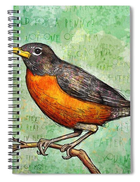 First Robin Of Spring Spiral Notebook