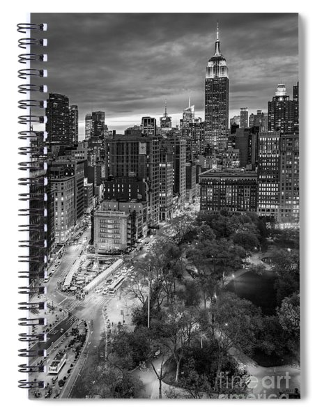 Flatiron District Birds Eye View Spiral Notebook