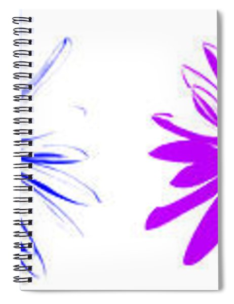 Flowers On White Spiral Notebook