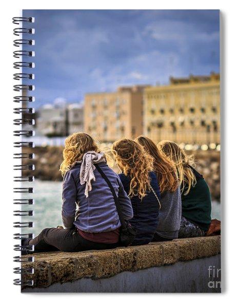 Foreign Students Cadiz Spain Spiral Notebook