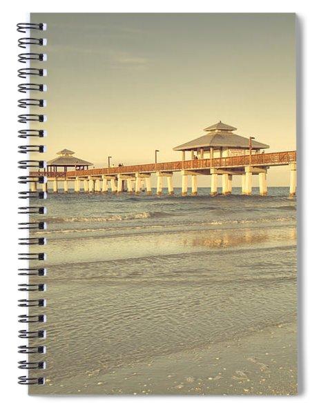 Fort Myers Beach Pier Spiral Notebook