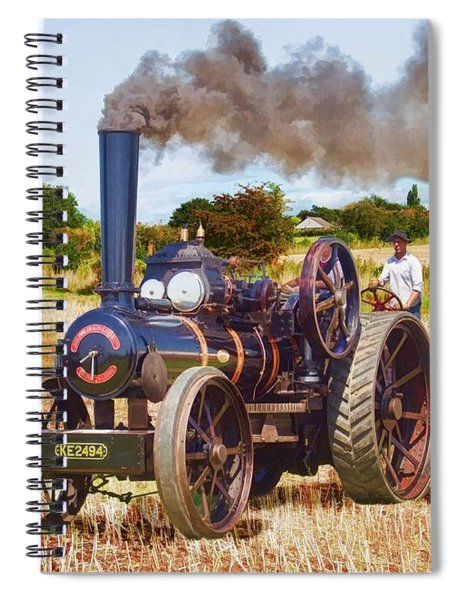 Fowler Ploughing Engine Spiral Notebook