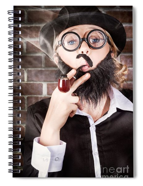 Funny Private Eye Detective Smoking Pipe Spiral Notebook