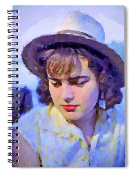 German Girl On The Rhine Spiral Notebook