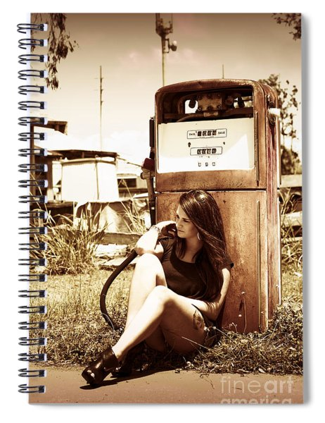 Ghost Town Named Oil And Gas Spiral Notebook