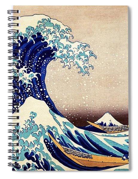 Great Wave Off Kanagawa Spiral Notebook