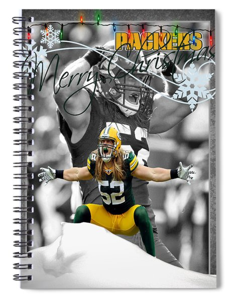Green Bay Packers Christmas Card Spiral Notebook
