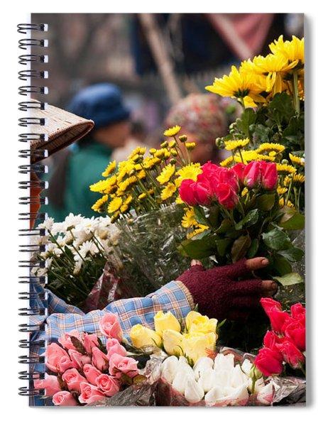 Hanoi Flowers 03 Spiral Notebook