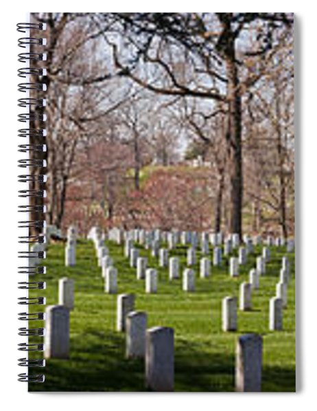 Headstones In A Cemetery, Arlington Spiral Notebook