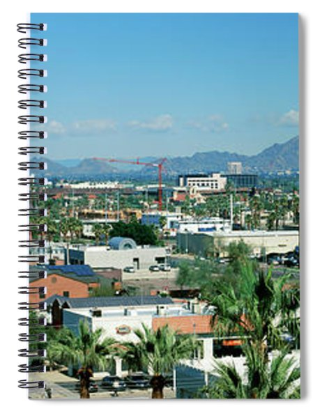 High Angle View Of A City, Phoenix Spiral Notebook