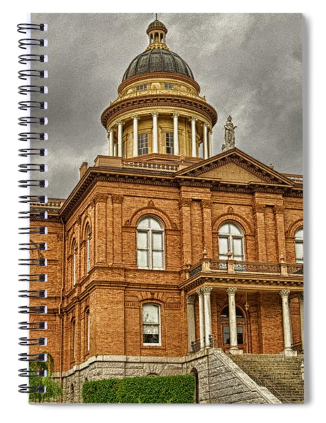 Spiral Notebook featuring the photograph Historic Placer County Courthouse by Jim Thompson
