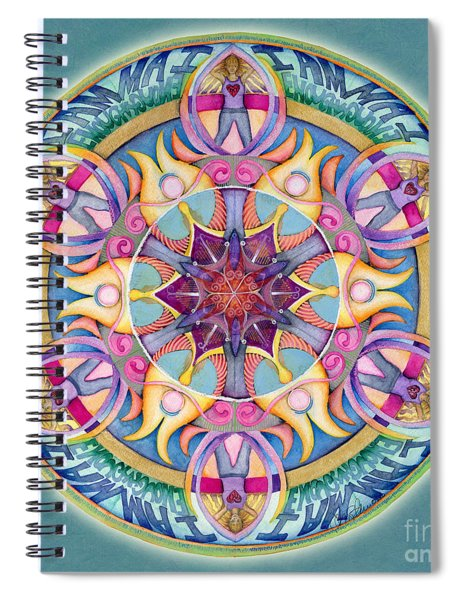 I Am Enough Mandala Spiral Notebook