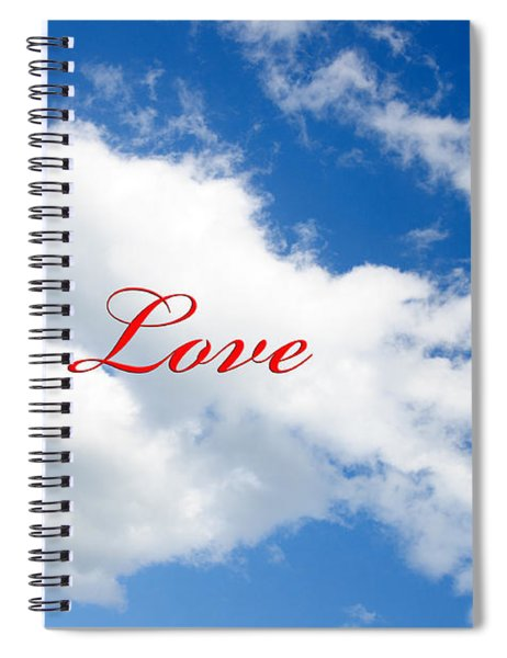1 I Love You Heart Cloud Spiral Notebook