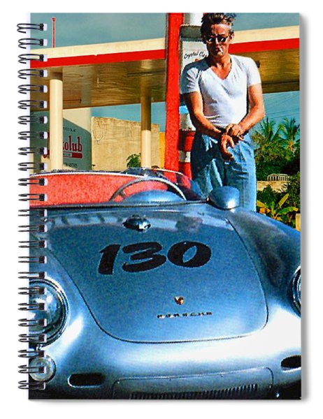 James Dean Filling His Spyder With Gas Spiral Notebook