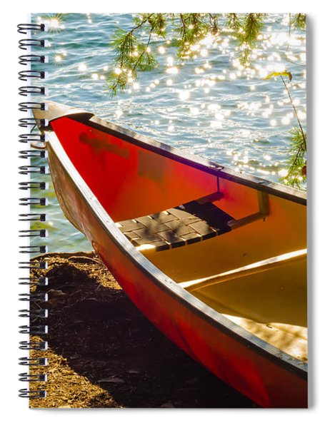 Kayak By The Water Spiral Notebook