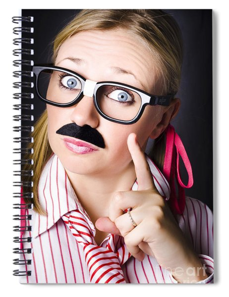 Know All Business Person With Answer To Question Spiral Notebook