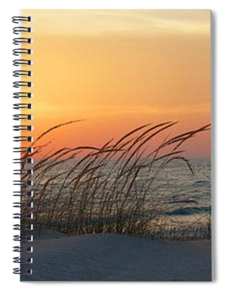 Lake Michigan Sunset Panorama Spiral Notebook