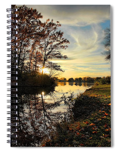 Lake Wausau Sunset Spiral Notebook