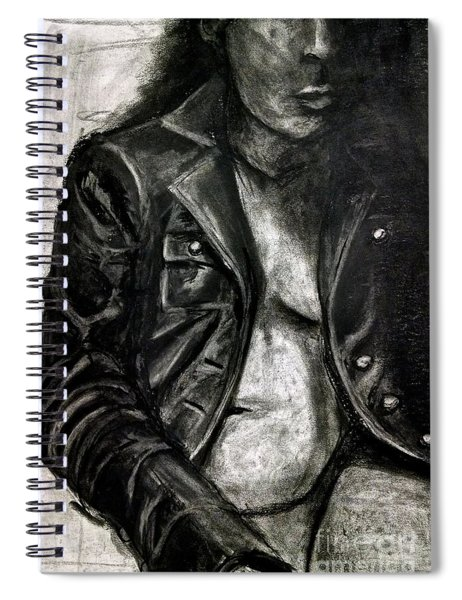 Leather Jacket Spiral Notebook