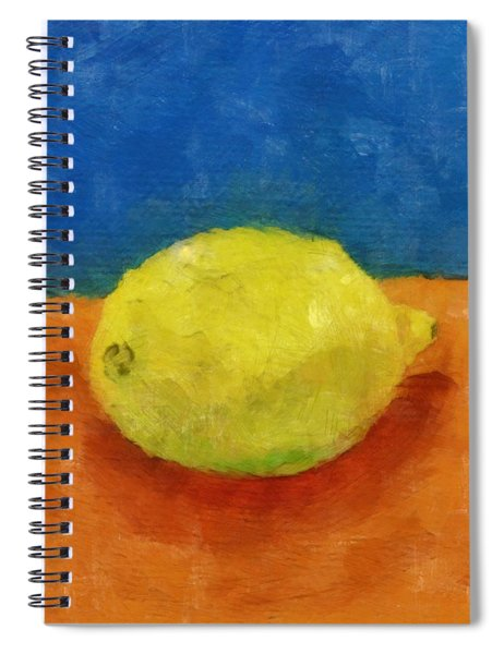Lemon With Blue And Orange Spiral Notebook
