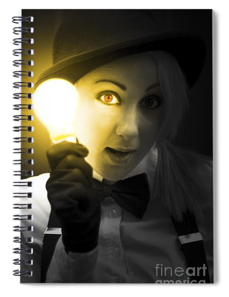 Light Bulb Lady Spiral Notebook