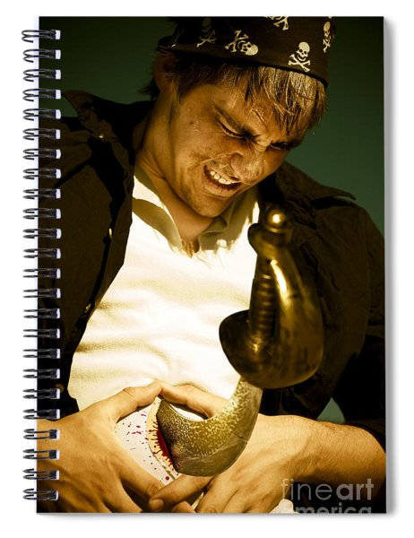 Live By The Sword Die By The Sword Spiral Notebook