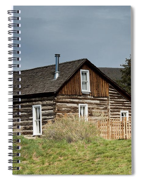 Log Cabin Spiral Notebook